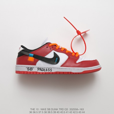 new styles 1f719 4f45d Fsr Off-White Supervisor Virgil Abloh X Nike Dunk Low Pro Sb Dunk Low  Street Sneakers Ow Red White Black Orange
