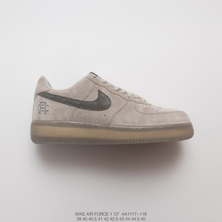 . Hot Cake Colorway Vancouver, Canada Brand Reigning Champ X Nike Air Force 1 Low All Match Sneakers Gray Deep Grey