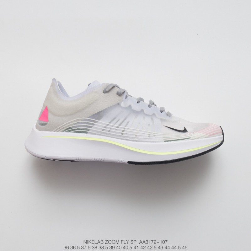 b78bc9db53c Unisex Racing Shoes Trend Nike Lab Zoom Fly Sp Flying Marathon High Jump  Jogging Shoes Transparent ...