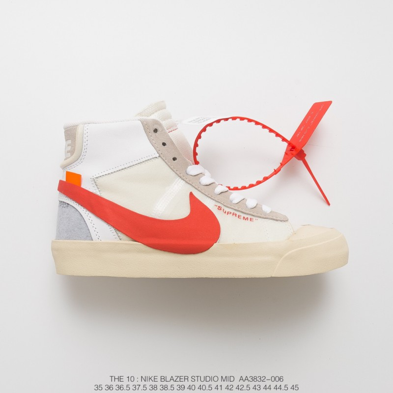 Virgil Abloh Designer Independent Brand Off-White X Nike Blazer Mid  Sneakers Ow Whole Black ... 762f33e2a
