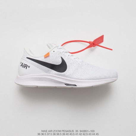 online store 31e38 136cc Creative Bespoke Off-White X Nike Air Zoom Pegasus 35 Lunarepic Unisex  Deadstock Breathable Mesh Trainers Shoes Ow Black Orange