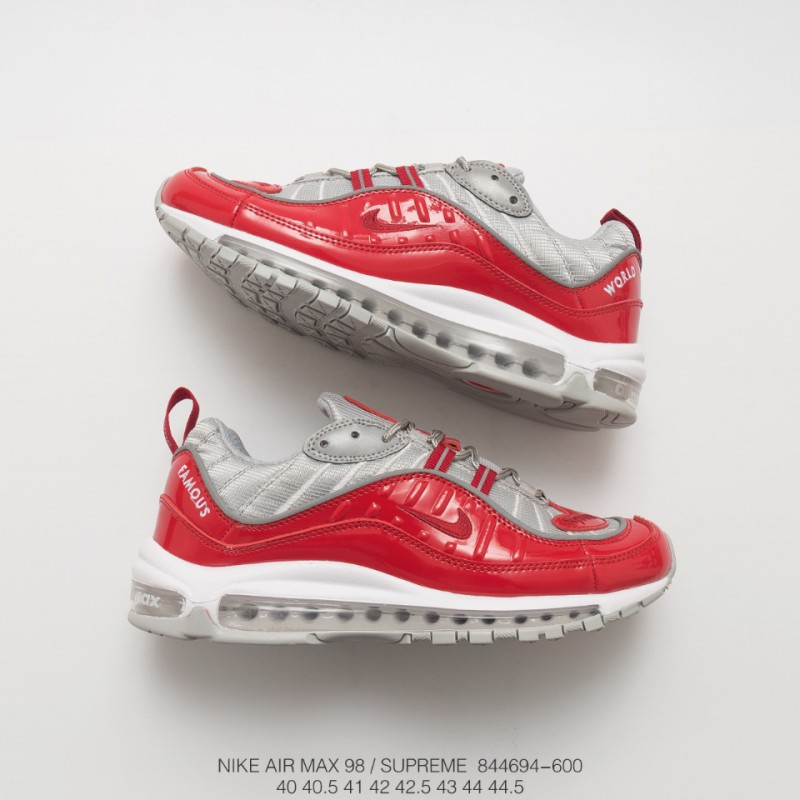 the latest e4ebb cbd1b Deadstock Nike Air Max 98 Supreme Limited Edition Total Air Increased  Platform Shoes Men's Sports Trainers Shoes Perfect Work I