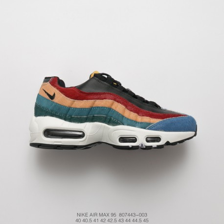 le dernier dafc6 56d3c Original Nike Air Max 95 Multi-Color Releases This Friday Indigo Horse Hair  Color Red Stitching
