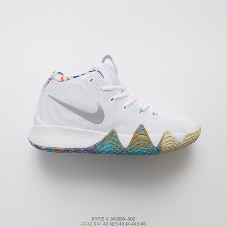 the latest bc0e3 f4bf2 Nike Kyrie 4 1990s With The Decades Pack Irving 4 Candy Blue Basket Sneaker