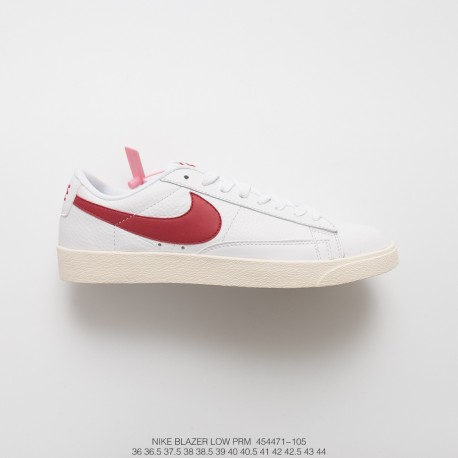 new concept 55101 8bb00 Nike Blazer Low Premium Limited Edition All-Match Red And White Sneakers  Vintage