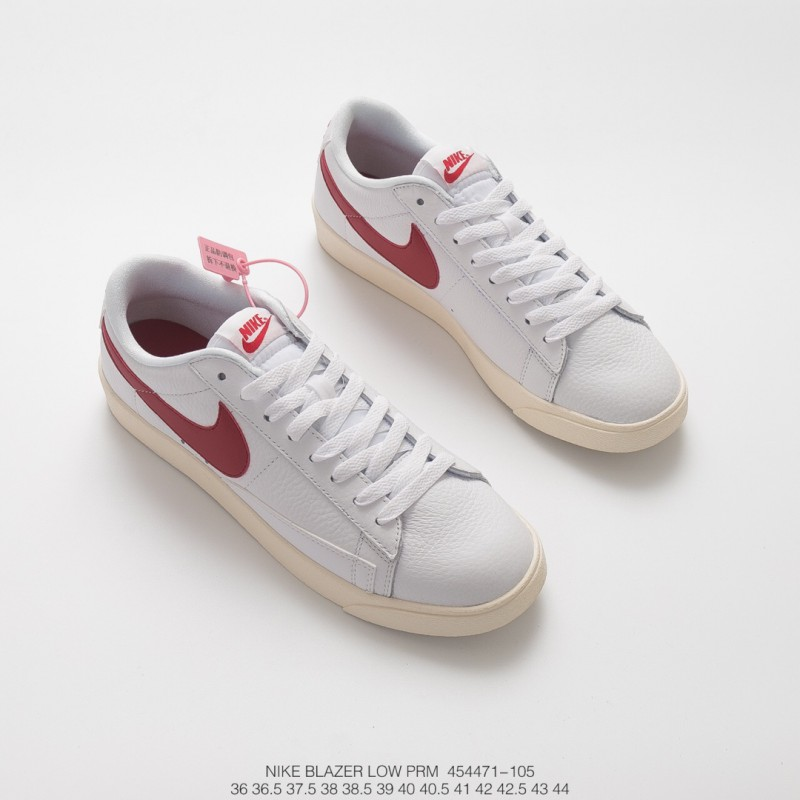 new concept a8e58 58f88 Nike Blazer Low Premium Limited Edition All-Match Red And White Sneakers  Vintage