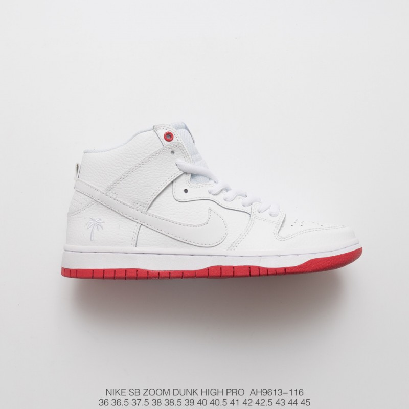 competitive price 3a51f 59e69 Fsr Nike Sb Zoom Dunk Higjh Pro Qs White Red High Palm Tree Sneakers