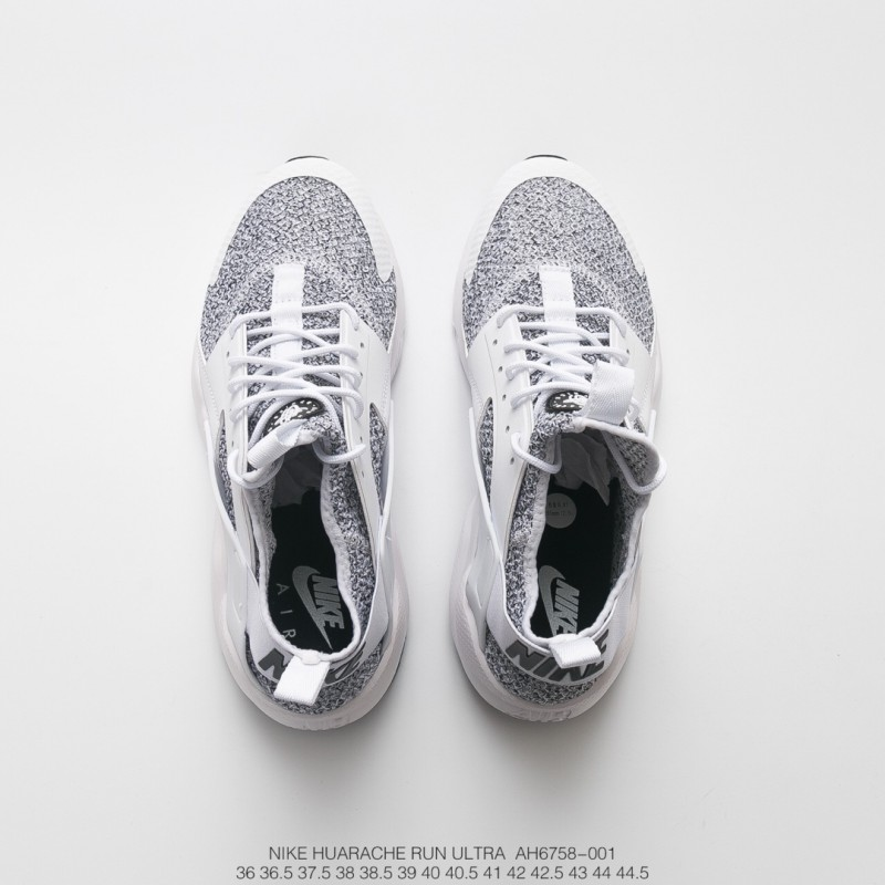 51498657495f ... Nike Air Huarache Ultra Flyknit Id Wallace Four Generation Flyknit  Vintage Jogging Shoes Light Grey White ...