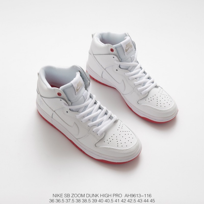competitive price 93b49 29b7c Fsr Nike Sb Zoom Dunk Higjh Pro Qs White Red High Palm Tree Sneakers
