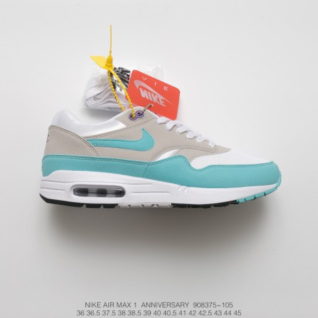 Fsr 30th Anniversary Limited Edition Nike Air Max Anniversary Og 1 Vintage Air All Match Jogging Shoes Pale Grey
