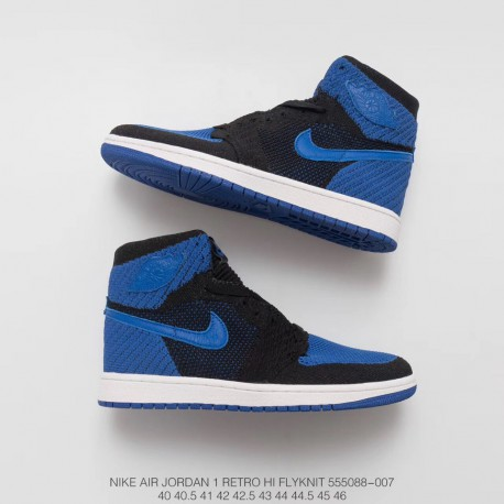 8fedcd42307 088 007 Air Jordan 1 Aj1 Retro High Woven Black And Blue