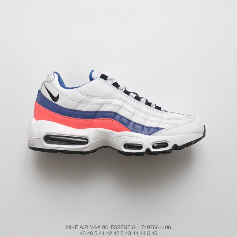 9b0f0d1630e Mens Fsr Nike Air Max 95 Essential Vintage Air Jogging Shoes Og White Blue  Powder ...