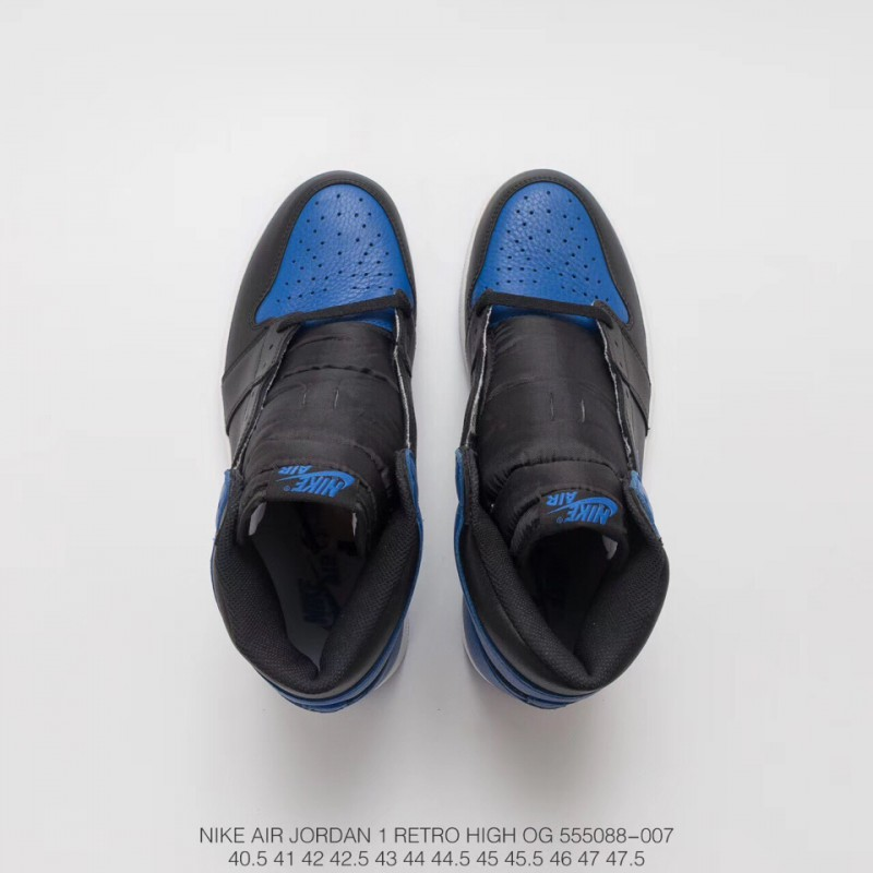 c30a5252716 ... 088 007 Black And Blue Air Jordan 1 Og Royal Ultra-Popular Black And  Blue ...