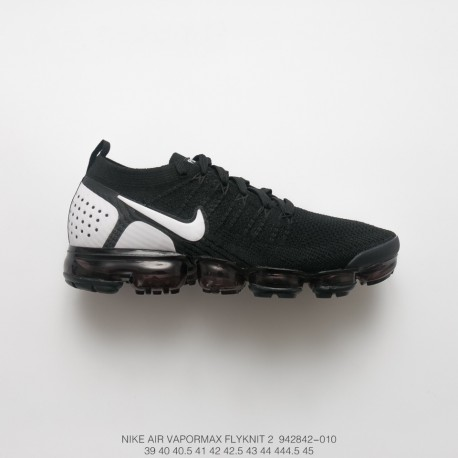 various colors 68a37 aec38 Nike Air Vapormax Flyknit 2.0 W Second Generation Air Max All-Match Jogging  Shoes 2.0 Black And White