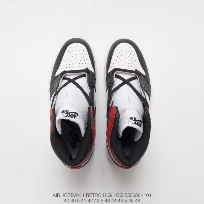b55c5a08dc7a3c ... Aj1 2nd Generation Black Toe Crossover Air Jordan 1 Retro Og Premium  Original Outsole Craft Original