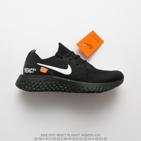 33a8b95208e2 Fsr Creative Off White X Nike Epic React Flyknit Pro Epic Flyknit Ultra  Lightweight Rebound Jogging