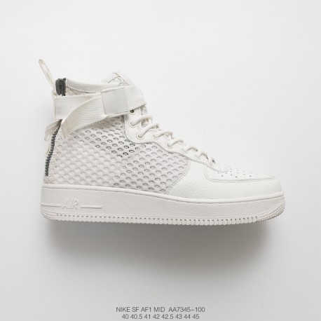 Nike Sf Air Force 1 Mid Qs High Street Functional Air Force Mid Whole Black