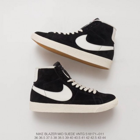 official photos e2674 1e7b0 171 011 Fsr High Nike Blazer Mid Suede Vntg Pigskin Leather Sneakers