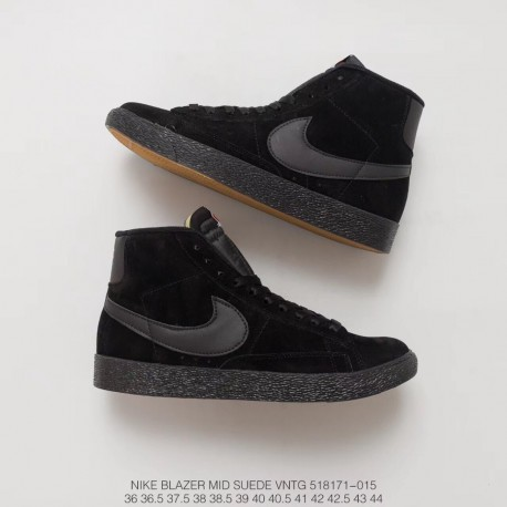 171 015 Fsr High Nike Blazer Mid Suede Vntg Pigskin Leather Sneakers