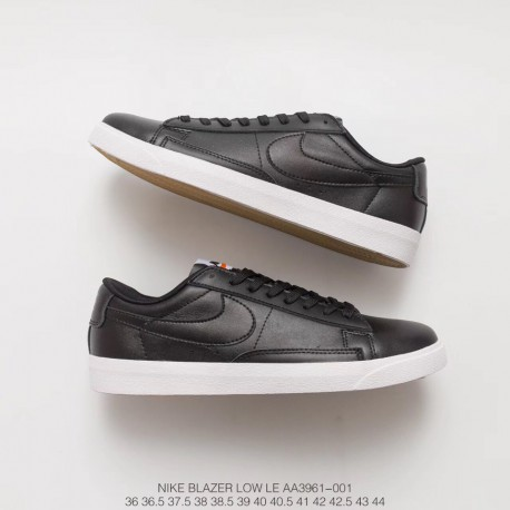 the best attitude 092d5 88d94 Fsr Leather Upper Unisex Sneakers Nike Blazer Low Le Black And White