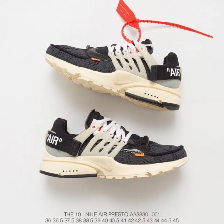 Idear Oriental algodón  Nike Presto Off White,AA3830-001 FSR Virgil Abloh Designer Independent  Brand Super Limited edition Off White x Nike Air Presto