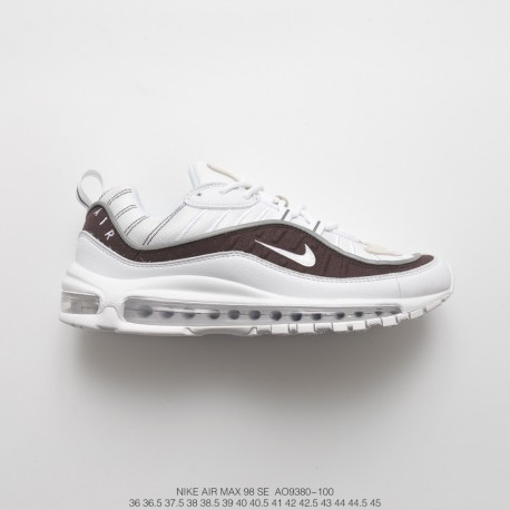 brand new d0271 e2a3b Unisex Fsr Nike Air Max 98 Vintage Air All-Match Jogging Shoes White Snake  Ar