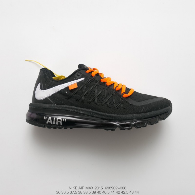 439d49f5e4d ... norway unisex nike air max 2015 mesh air jogging shoes ow black and  white orange a1efd