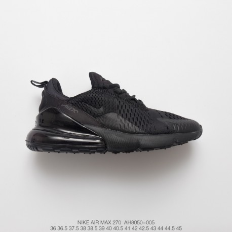 ba4e39cfbb8cda Hot Air Shoes Nike Air Max 270 Deadstock Seat Half Palm Air Jogging Shoes  Black Warrior