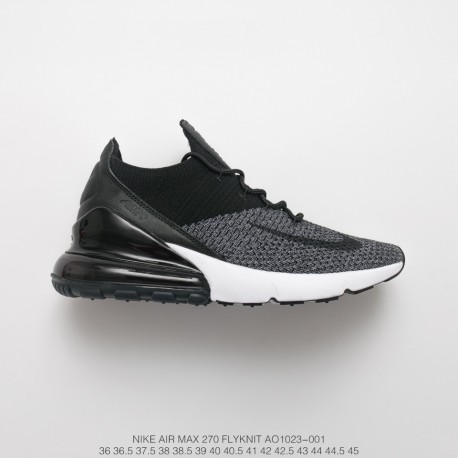 huge selection of c5f87 292b1 Fsr 18ss Season Deadstock Nike Air 270 Flyknit Seat Half Palm Air Jogging  Shoes Grey Black White