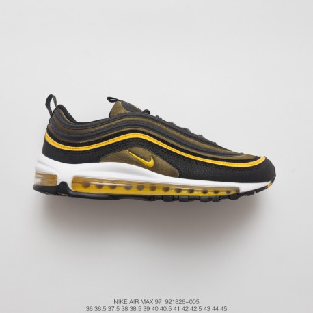 on sale 63bd1 1b60c Nike Air Max 97 All-Match Vintage Air Jogging Shoes Black Yellow White