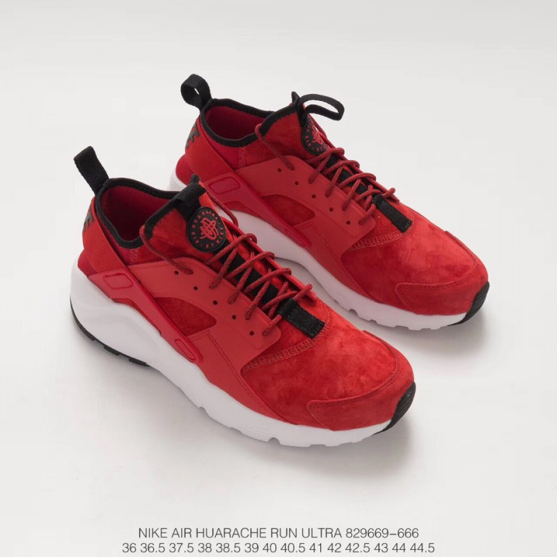 13153ac2017 ... Original Box Wallace Four Generations Nike Air Huarache Run Ultra Whole  Pig Eight Red And White