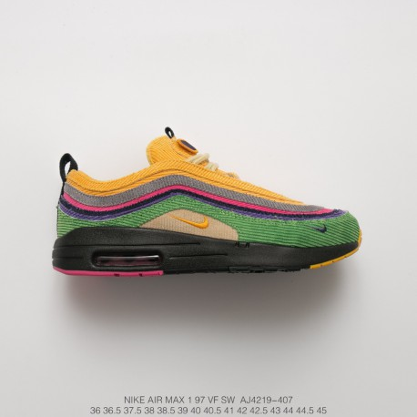12477647eb40f Original Accessory New York Trend Shop Manager Sean Wotherspoon X Air Max  1 97 Vf Sw Hybrid Mix Vintage Air Jogging Shoes Vinta