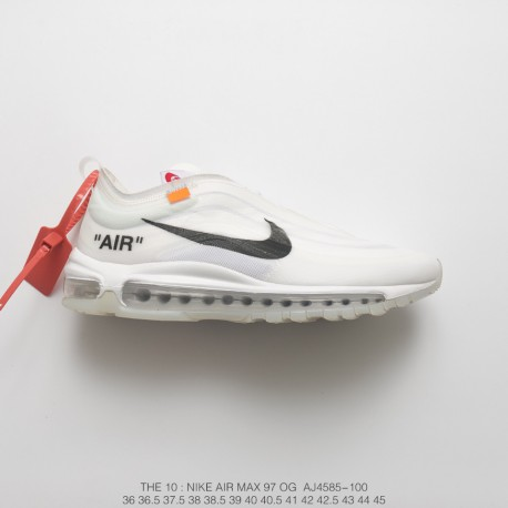 separation shoes 9a9a3 f30f2 Virgil Abloh Designer Brand Off White X Nike Air Max 97 All-Match Vintage  Air