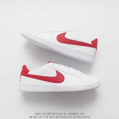 Fsr Nike Court Royale All Match Casual Sneakers White Red