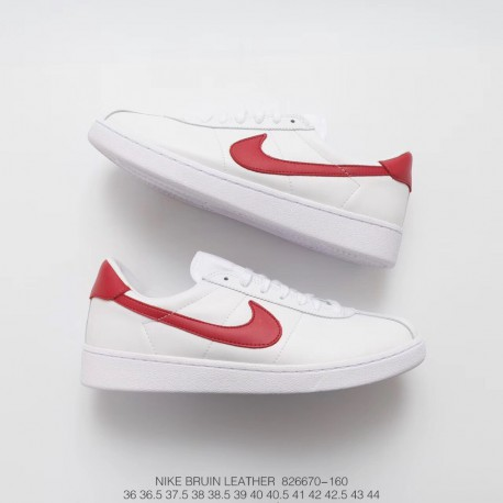 marca borroso Dictado  Nike Bruin White Red,670-160 FSR NIKELab Bruin Leather Back to the Future  Movie Retro Sneakers White Red