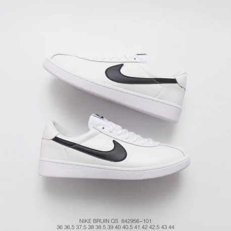 best sneakers debed d0fec Fsr Nikelab Bruin Leather Back To The Future Movie Retro Sneakers White  Black