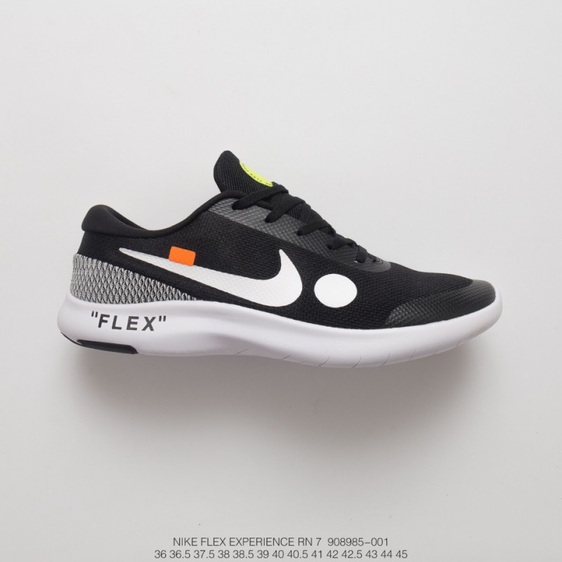 b0c09394c8422 Off-White X Nike Flex Experience Rn 7 Breathable Light Trainers Shoes ...