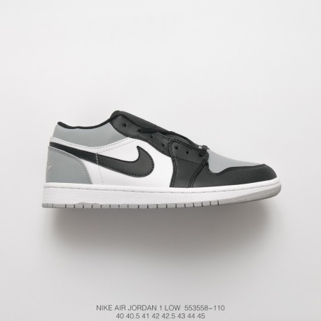 84861385c48 Air Jordan 1 Low Jordan Generation Low Vintage Basketball Culture Shoes  Grey Black White