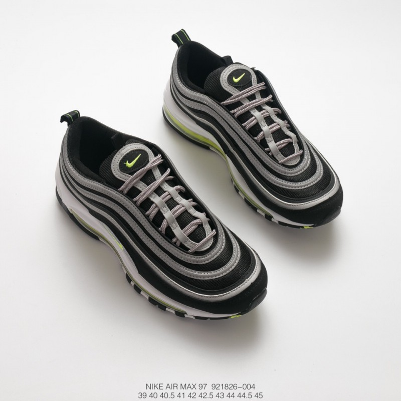 e0647bd69874c ... Unisex Nike Air Max 97 All-Match Vintage Air Jogging Shoes  Electro-Optical Green