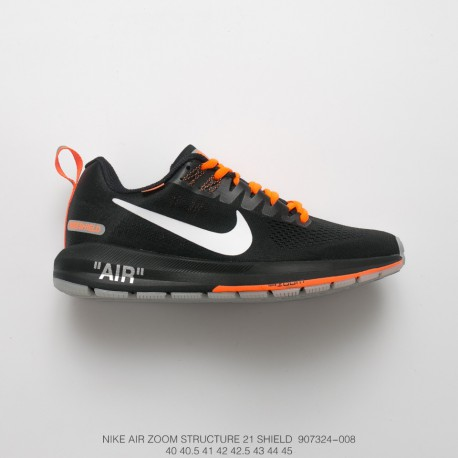 Fsr Lunarepic 2 1 Nike Air Zoom Structure 21 Off White Waterproof Mesh Men's Sports Trainers Shoes Black Orange