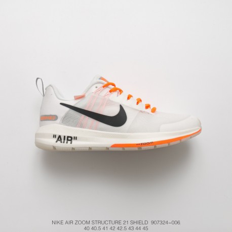 new product 0298a a8e8c Fsr Lunarepic 2 1 Nike Air Zoom Structure 21 Off-White Waterproof Mesh  Men's Sports Trainers Shoes White Orange