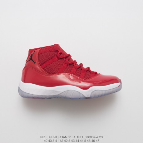 new arrival 908ca 016b3 Air Jordan 11 Gym Red 11 Oriental Ted Perfect Flying Embroidery