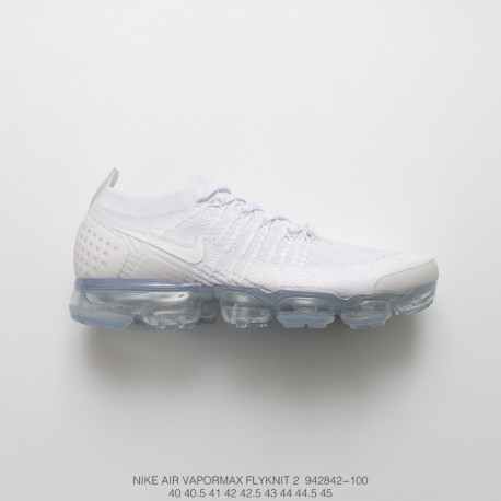 new arrival 83fea 62e87 Fsr Nike Air Vapormax Flyknit 2.0 W 2nd Generation Air Max All-Match  Jogging Shoes Whole White