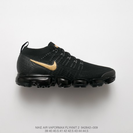buy popular 27e4a 6ea4d Nike Air Vapormax Flyknit 2.0 W Second Generation Air Max All-Match Jogging  Shoes Whole Black