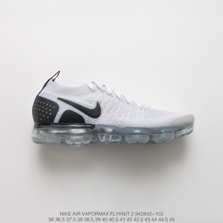 hot sale online fa7ab 8c205 Fsr Nike Air Vapormax Flyknit 2.0 W Ii Air Max All-Match Jogging Shoes 2.0  Grey Black White