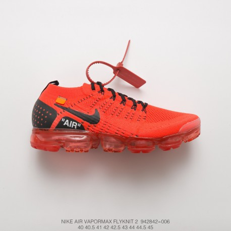 on sale 03ad3 193de Mens Fsr Creative Offwhite X Nike Air Vapormax Flyknit 2.0 W Second  Generation Air Max All-Match Jogging Shoes Ow Big Bred Oran