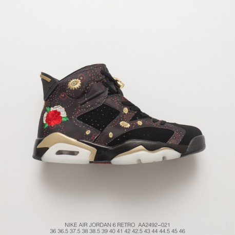 detailed pictures ff471 69b35 New Year's Eve Air Jordan 6 Cny Aj6 Joe 6 Fireworks Embroidery Original Box  Original With Black As The Base