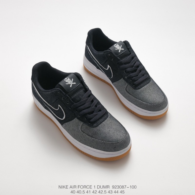 finest selection 16a63 5705c Fsr Nike Air Force 1 Low Canvas Af1 Air Force Classic All-Match Sneakers  Canvas Grey Black White Brown