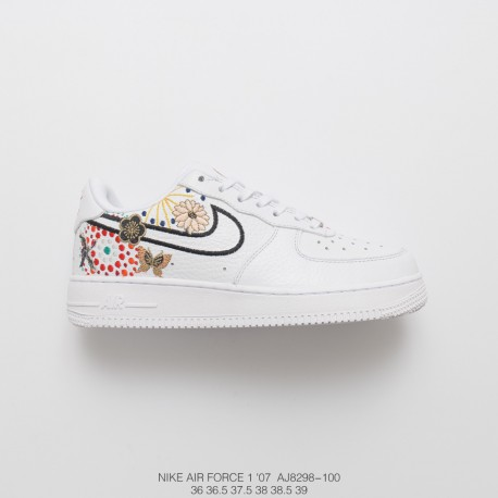 hot sale online 5c9a6 70009 Nike Air Force 1 Air Force Fireworks New Year Women Suzhou Embroidery Craft  Leather Upper Face