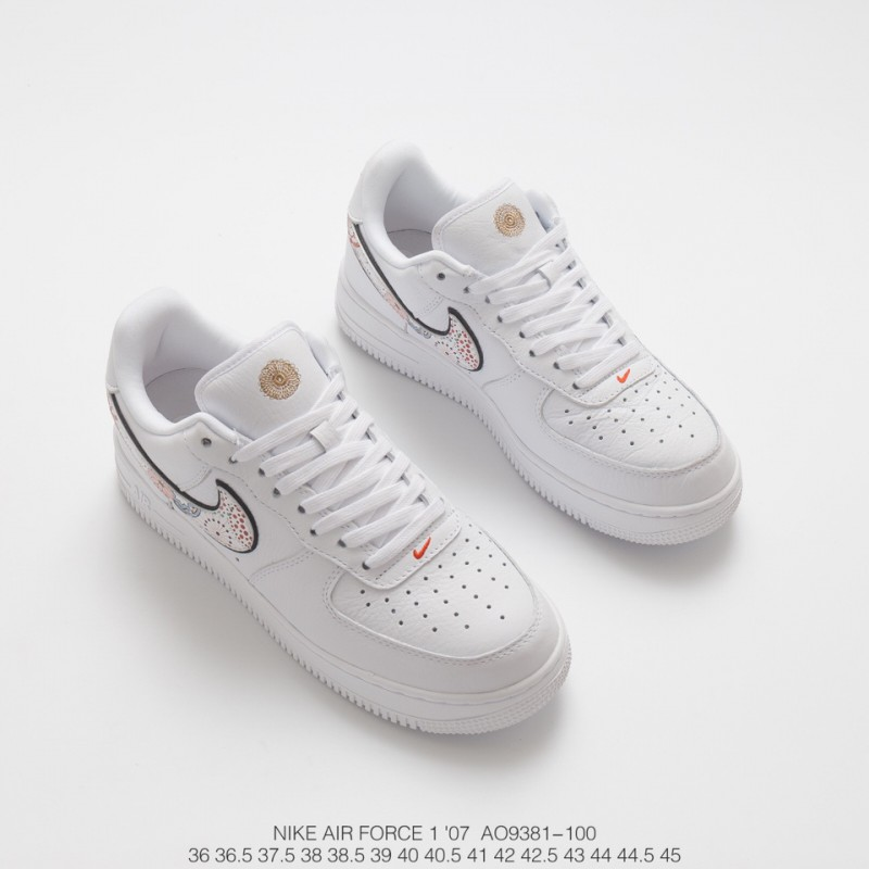 save off 3e0de fc78e ... Nike Air Force 1 Air Force Fireworks New Year Unisex Official  Synchronization Deadstock Premium Leather Upper